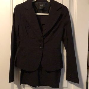 XOXO Business Skirt Suit Black Stretch